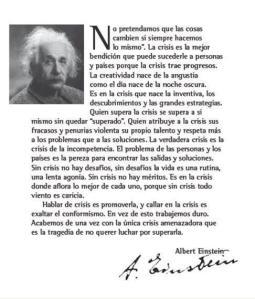 Carta de Motivación de Albert Einstein